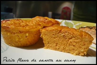 flancarottecurrycrea2 Petits flans de carotte au curry
