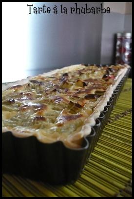 tarterhubarbecrea1 Tarte à la rhubarbe