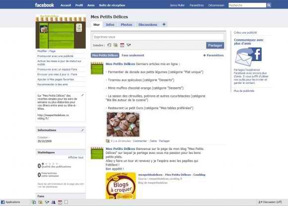 Facebook Mes Petits Délices sur Facebook