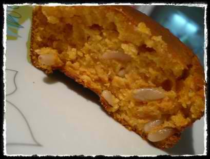 cakepotironcrea Cake au potiron et pignons de pin