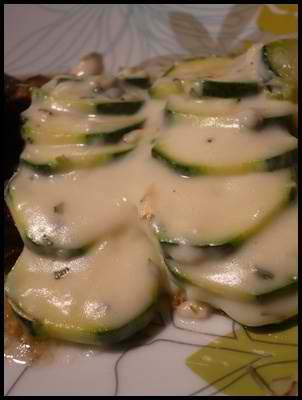gratincourgettescrea2 Gratin de courgettes aux saveurs du Sud