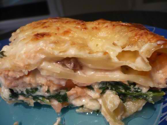 lasagnesepinardsaumon Lasagnes aux épinards et aux 2 saumons