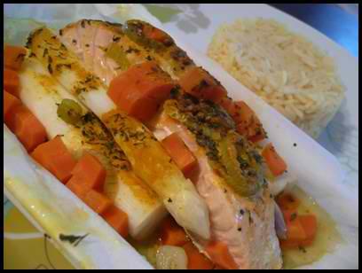 papillottesaumonprintannierecrea1 Papillotte de saumon printannière