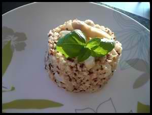 risottoquinoaaspergecrea1 Risotto de quinoa aux asperges blanches