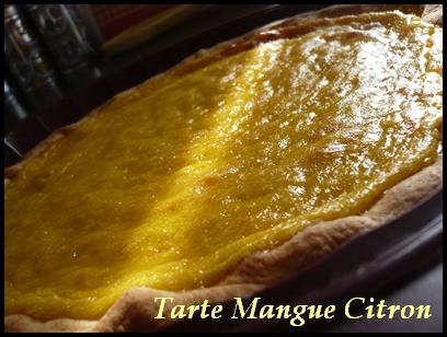 tartemanguecitroncrea1 Tarte mangue citron et son coulis de chocolat