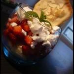 Verrine de fraises