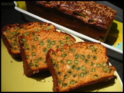 cakecrabeharicotsvertscrea1 Cake au crabe et aux haricots verts