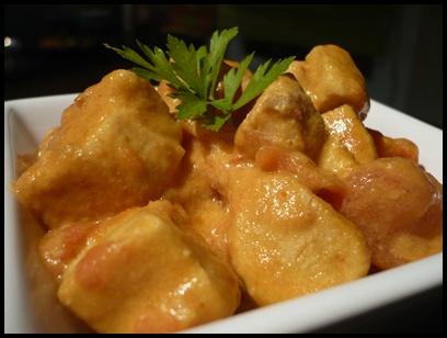 currypoulettomatecrea2 Curry de poulet à la tomate