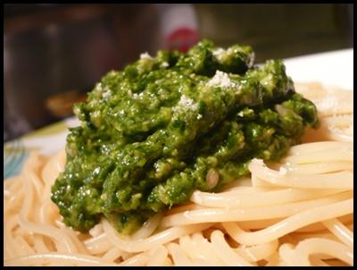 patespestoepinardscrea2 Pesto aux épinards