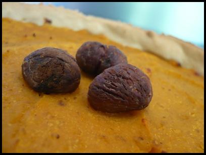 tartebutternutchataignescrea1 Tarte salée à la courge butternut et aux châtaignes