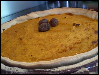 tartebutternutchataignescrea2 Tarte salée à la courge butternut et aux châtaignes