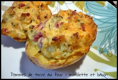 PDTaufourmimolettebaconcrea2 Pommes de terre au four à la mimolette et au bacon