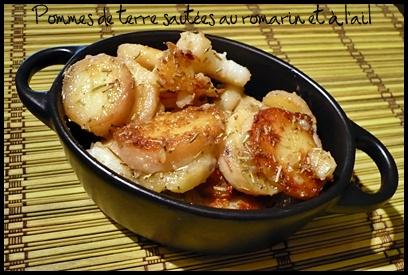 PDTsauteesromarinailcrea Pommes de terre sautées au romarin et à lail
