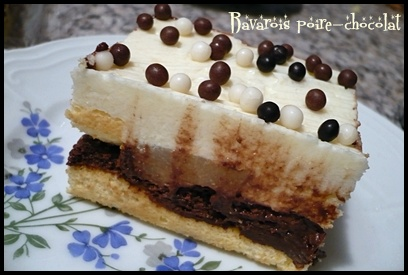 bavaroispoirechocolatcrea2 Bavarois poire   chocolat