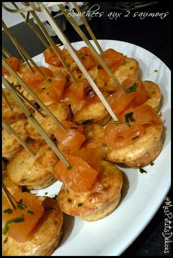 boucheesaux2saumonscrea2 Bouchées aux deux saumons
