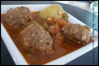 boulettesboeufsaucetomatecrea2 Boulettes de boeuf à la sauce tomate