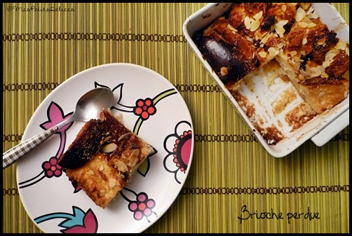 briocheperduechocoamandescrea2 Brioche perdue aux pépites de chocolat et amandes effilées [au four]