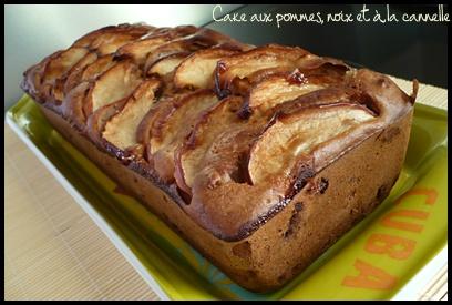 cakepommenoixcanellecrea1 Cake aux pommes, noix et à la cannelle