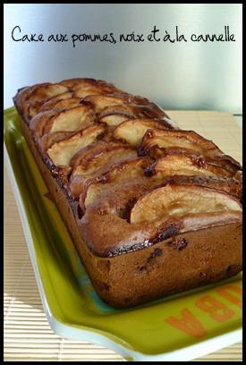 cakepommenoixcanellecrea2 Cake aux pommes, noix et à la cannelle
