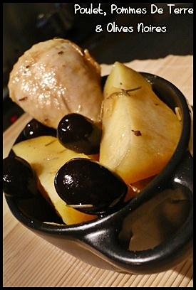 cocottepouletpdtcrea2 Cocotte de poulet aux pommes de terre et olives noires