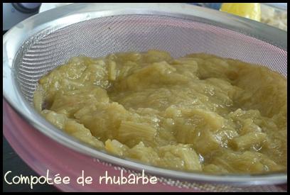 compoteerhubarbecrea Tarte rhubarbe banane façon crumble
