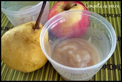 compotepoirecrea3 Compote de pomme, de poire et variantes (dès 4   6 mois)