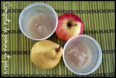 compotepommepoirecrea2 Compote de pomme, de poire et variantes (dès 4   6 mois)