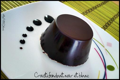 croustifondantchococrea2 Croustifondant noir et blanc ❀ Pâques ❀