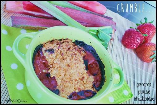 crumblefraiserhubarbecrea2 Compote et crumble saveur pomme fraise rhubarbe