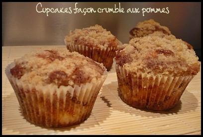 cupcakescrumblepommescrea1 Cupcakes façon crumble aux pommes