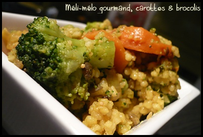 currydecerealesgourmandescarottesetbrocoliscrea1 Curry de céréales gourmandes, carottes et brocolis