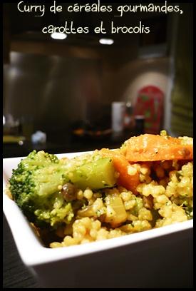 currydecerealesgourmandescarottesetbrocoliscrea2 Curry de céréales gourmandes, carottes et brocolis