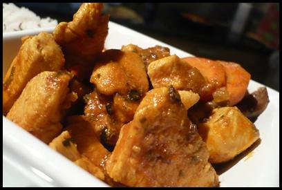 currypouletchampignonscarottescrea3 Curry de poulet aux champignons et carottes