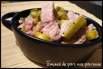 emincedeporcauxpoireauxcrea1 Emincé de porc aux poireaux