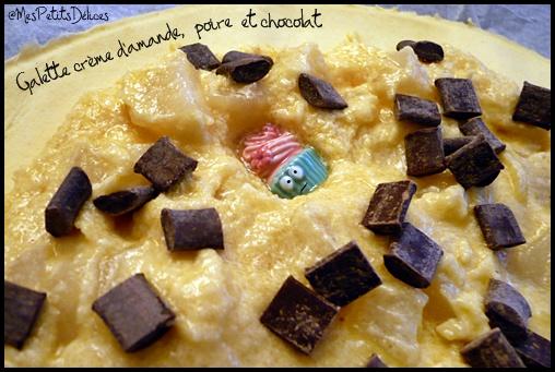 galetteamandepoirechococrea Galette des rois à la crème damande, poire et chocolat