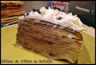gateaucrepesnutellacrea2 Gâteau de crêpes au Nutella