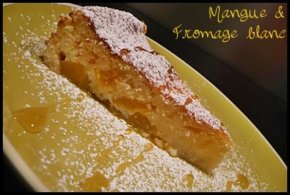 gateaumanguecrea1 Gâteau à la mangue et au fromage blanc