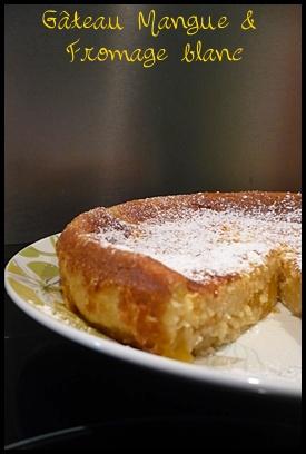 gateaumanguecrea2 Gâteau à la mangue et au fromage blanc