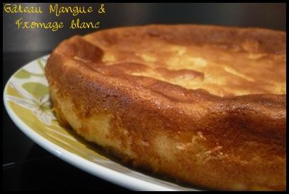 gateaumanguecrea3 Gâteau à la mangue et au fromage blanc