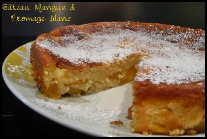 gateaumanguecrea4 Gâteau à la mangue et au fromage blanc