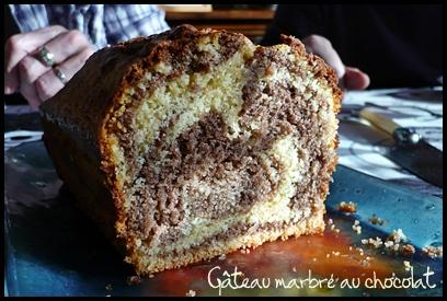 gateaumarbreauchocolatcrea1 Gâteau marbré au chocolat