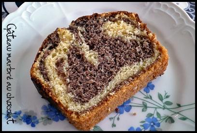 gateaumarbreauchocolatcrea2 Gâteau marbré au chocolat