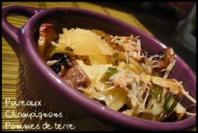 gratinpdtpoireauxchampiscrea2 Gratin de pommes de terre, poireaux et champignons