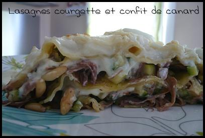 lasagnescourgetteconfitdecanardcrea1 Lasagnes à la courgette et au confit de canard