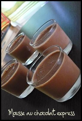moussechocolatexpresscrea1 Mousse au chocolat express