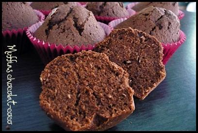 muffinschococococrea1 Muffins au chocolat et à la noix de coco