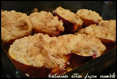 nectarinesrotiesfaconcrumblecrea1 Nectarines rôties façon crumble