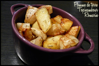 poeleepdttopinambourromarincrea1 Poêlée hivernale : pomme de terre et topinambour au romarin