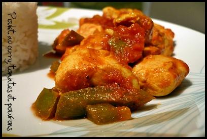 pouletcurrytomatespoivronscrea1 Poulet au curry, tomates et poivrons