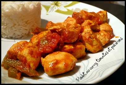 pouletcurrytomatespoivronscrea2 Poulet au curry, tomates et poivrons